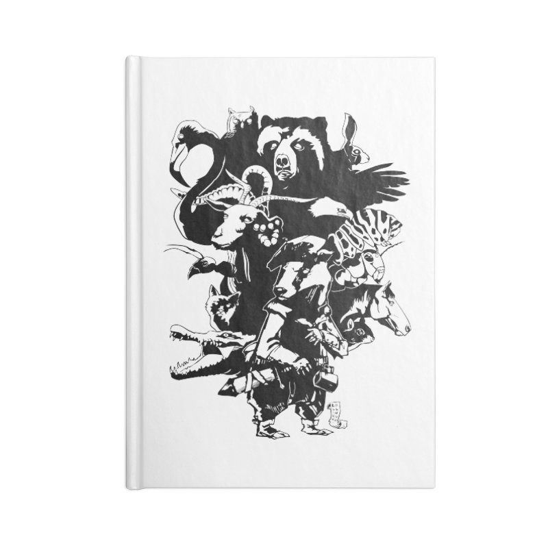 Chunt, King of the Badger (Uncolored) Accessories Blank Journal Notebook by