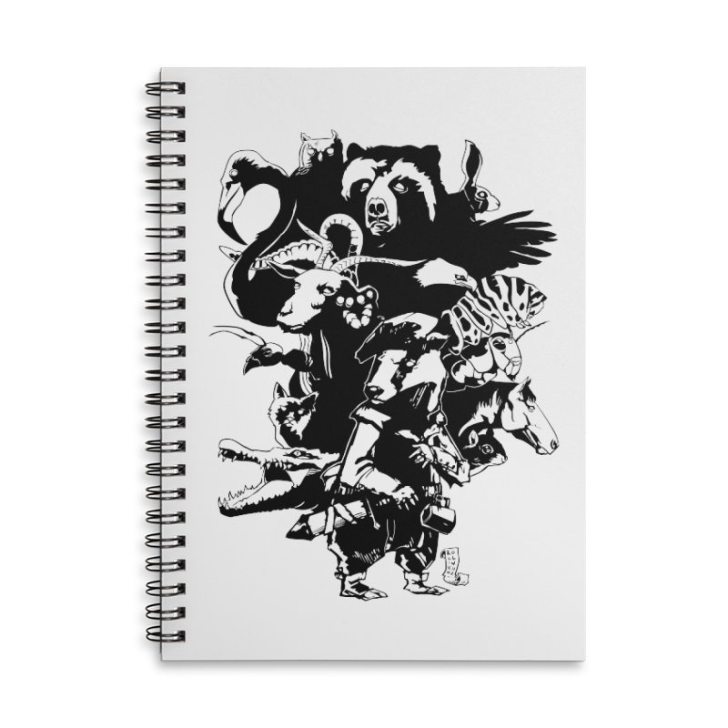 Chunt, King of the Badger (Uncolored) Accessories Lined Spiral Notebook by