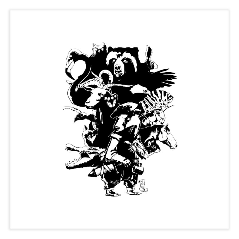 Chunt, King of the Badger (Uncolored) Home Fine Art Print by