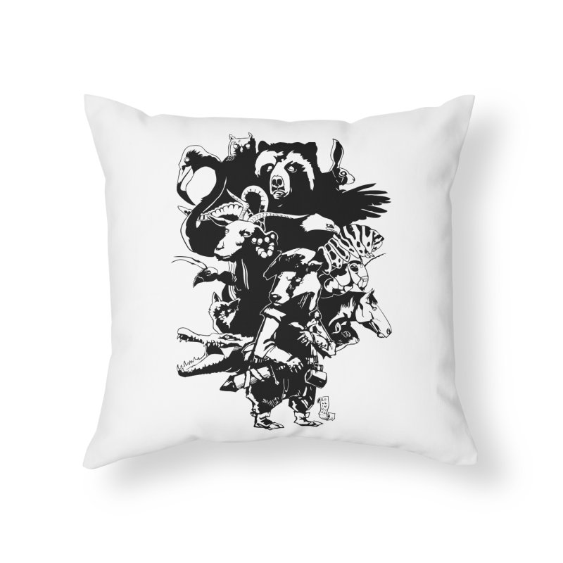 Chunt, King of the Badger (Uncolored) Home Throw Pillow by