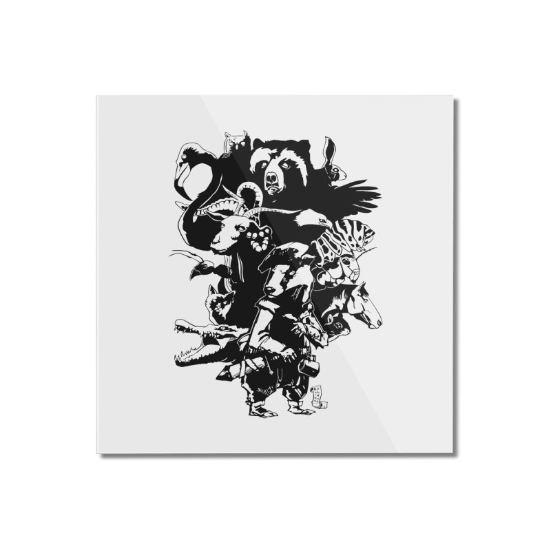 Chunt, King of the Badger (Uncolored) Home Mounted Acrylic Print by