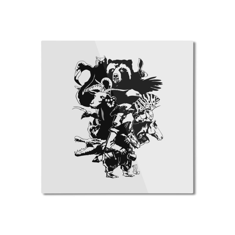 Chunt, King of the Badger (Uncolored) Home Mounted Aluminum Print by