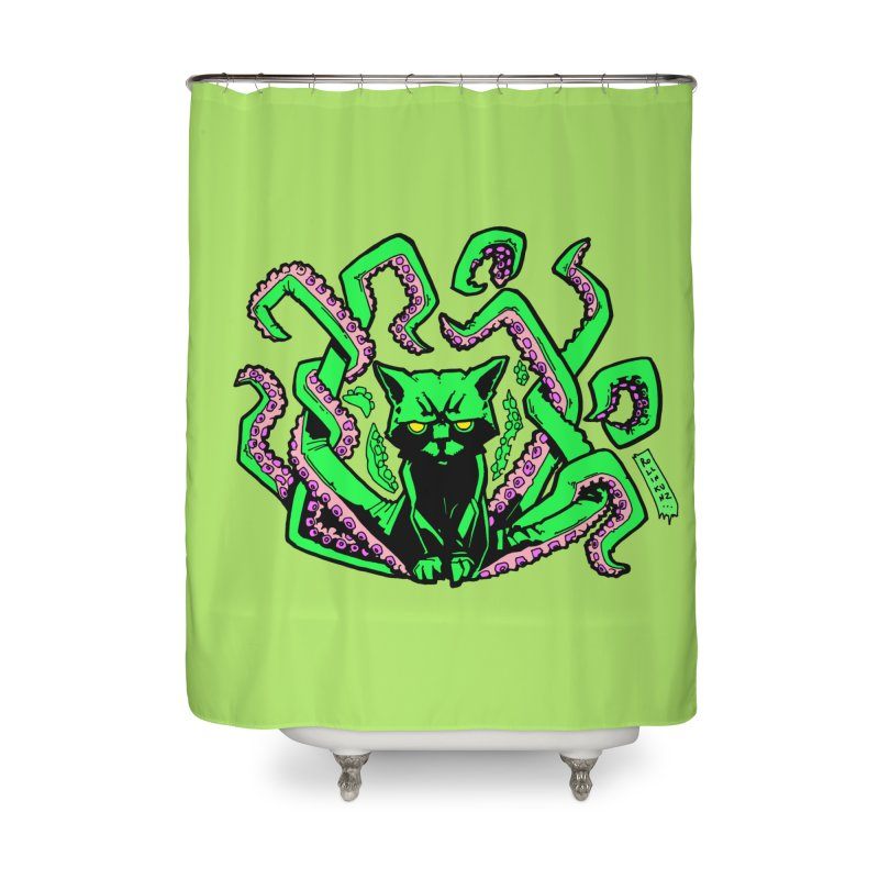 Catthulhu Home Shower Curtain by