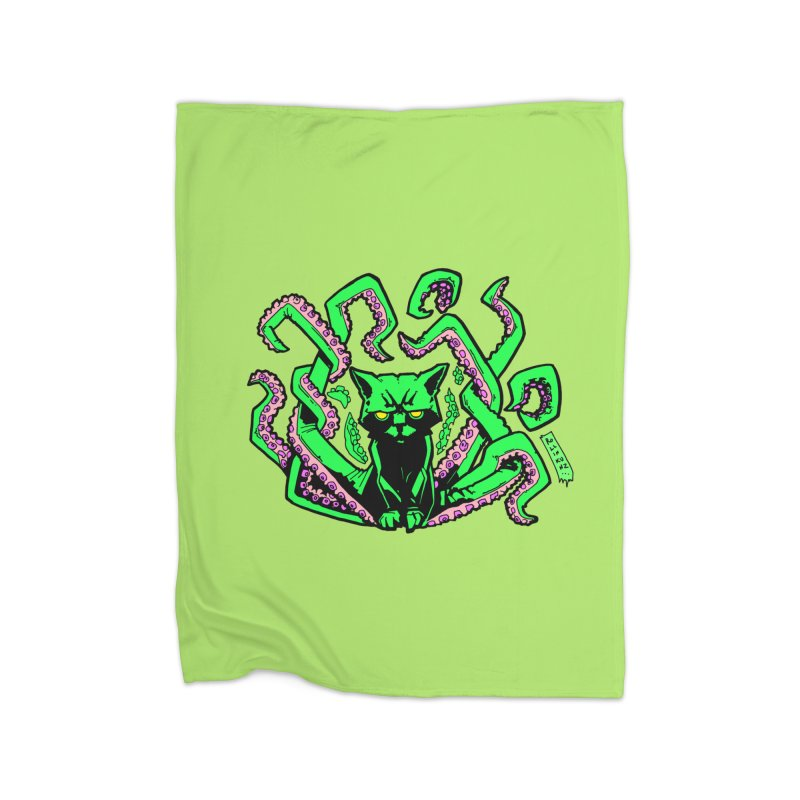 Catthulhu Home Fleece Blanket Blanket by