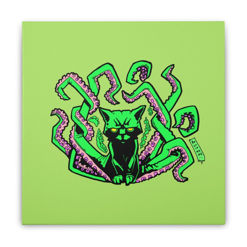 Catthulhu Home Stretched Canvas by