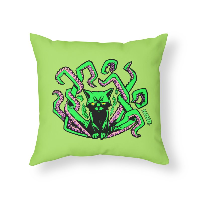 Catthulhu Home Throw Pillow by