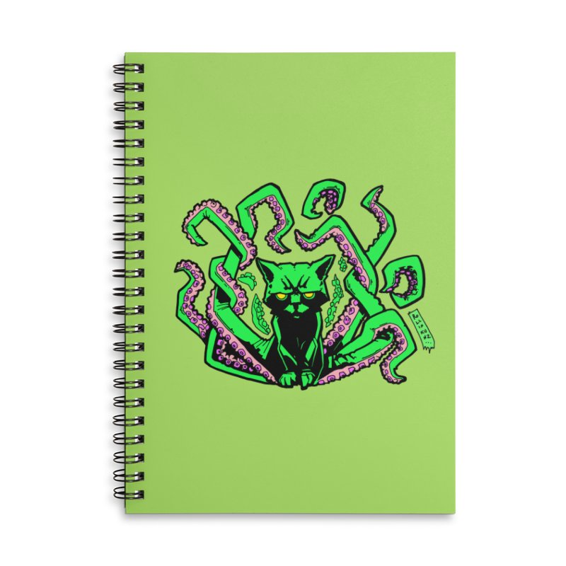 Catthulhu Accessories Lined Spiral Notebook by