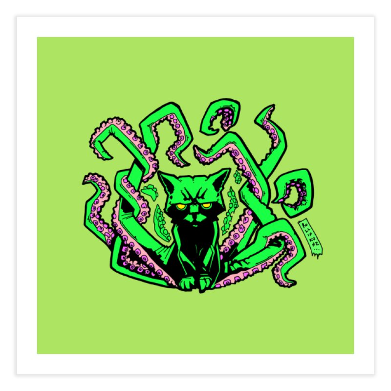 Catthulhu Home Fine Art Print by
