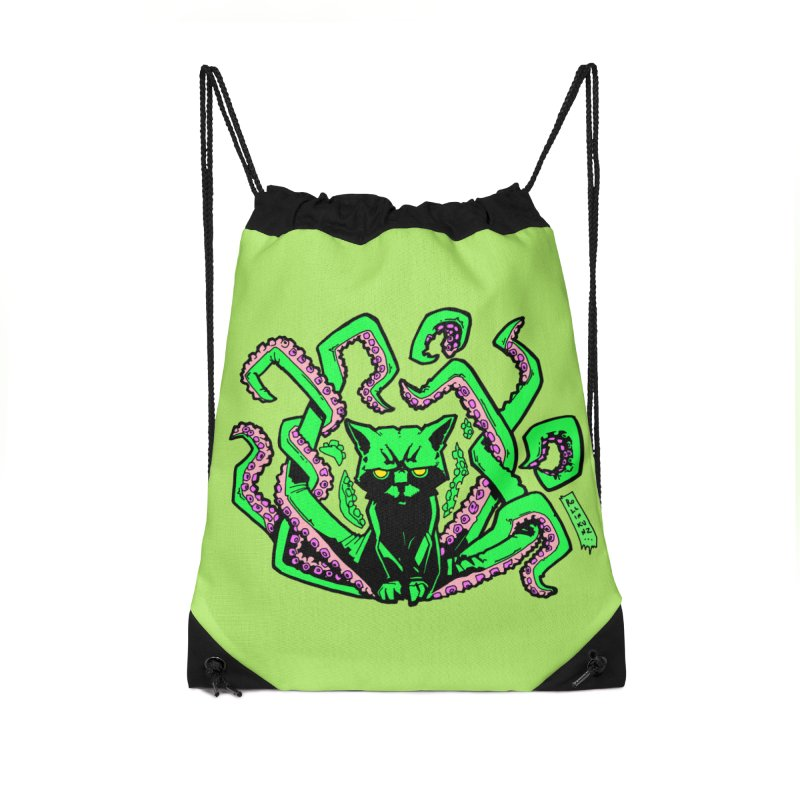 Catthulhu Accessories Drawstring Bag Bag by