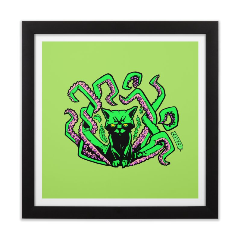 Catthulhu Home Framed Fine Art Print by