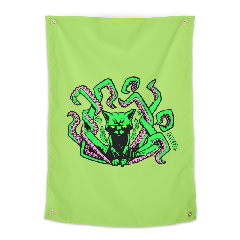 Catthulhu Home Tapestry by