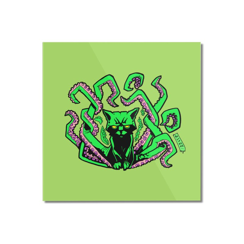 Catthulhu Home Mounted Acrylic Print by