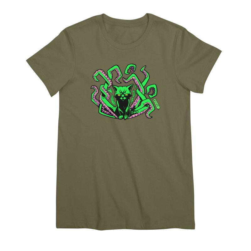 Catthulhu Women's Premium T-Shirt by