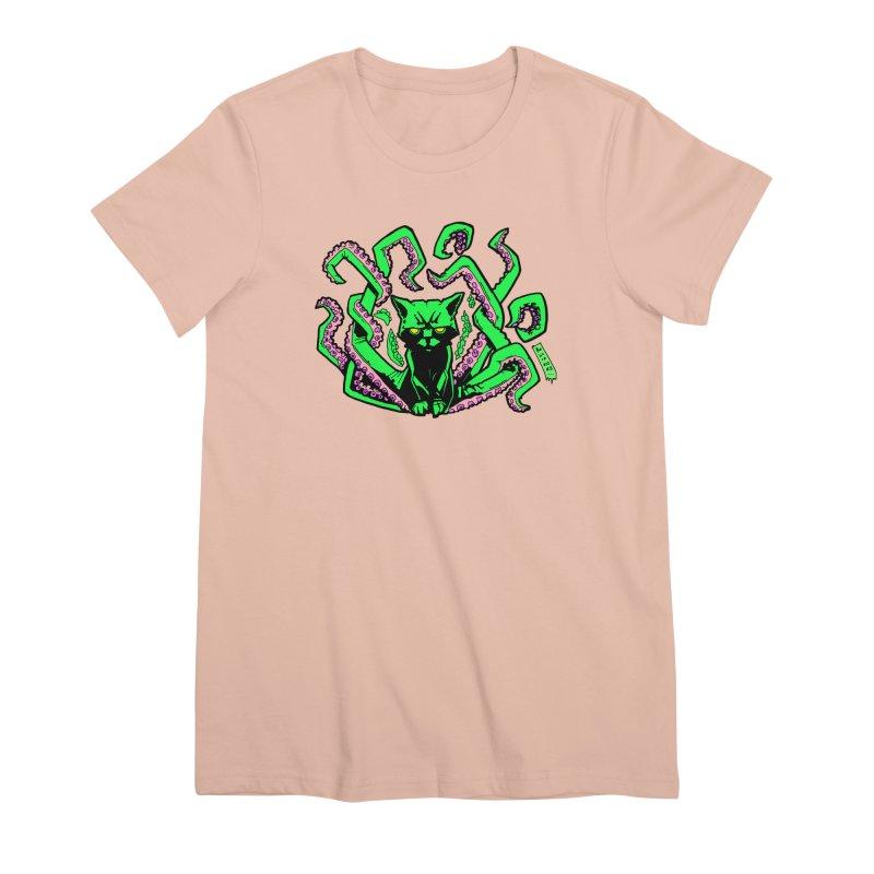 Catthulhu Women's Premium T-Shirt by