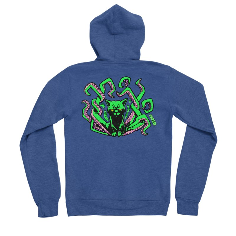 Catthulhu Men's Sponge Fleece Zip-Up Hoody by