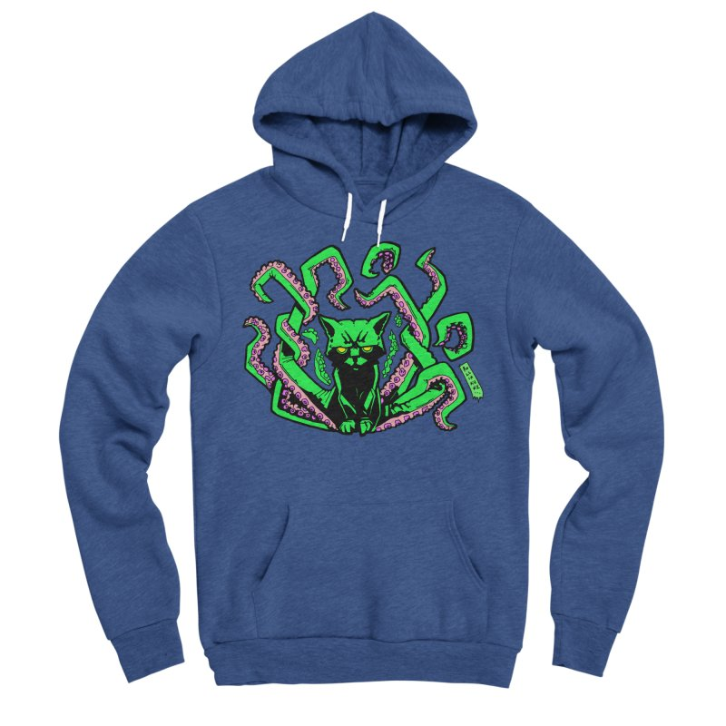 Catthulhu Men's Sponge Fleece Pullover Hoody by