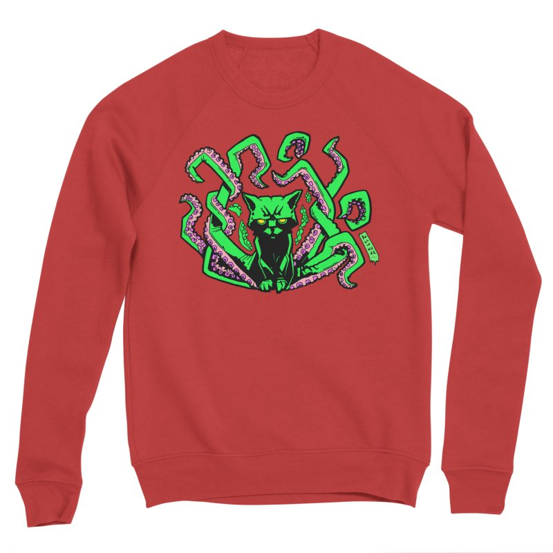 Catthulhu Men's Sponge Fleece Sweatshirt by