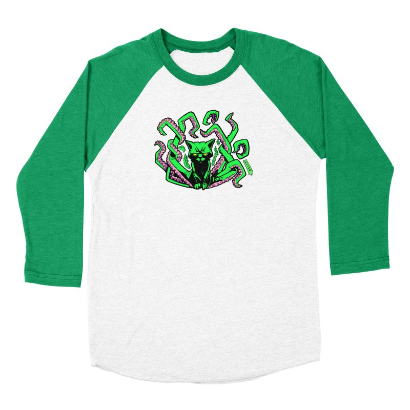 Catthulhu Women's Baseball Triblend Longsleeve T-Shirt by