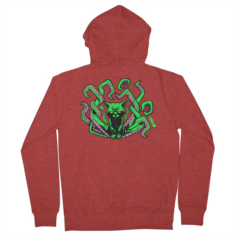 Catthulhu Men's French Terry Zip-Up Hoody by
