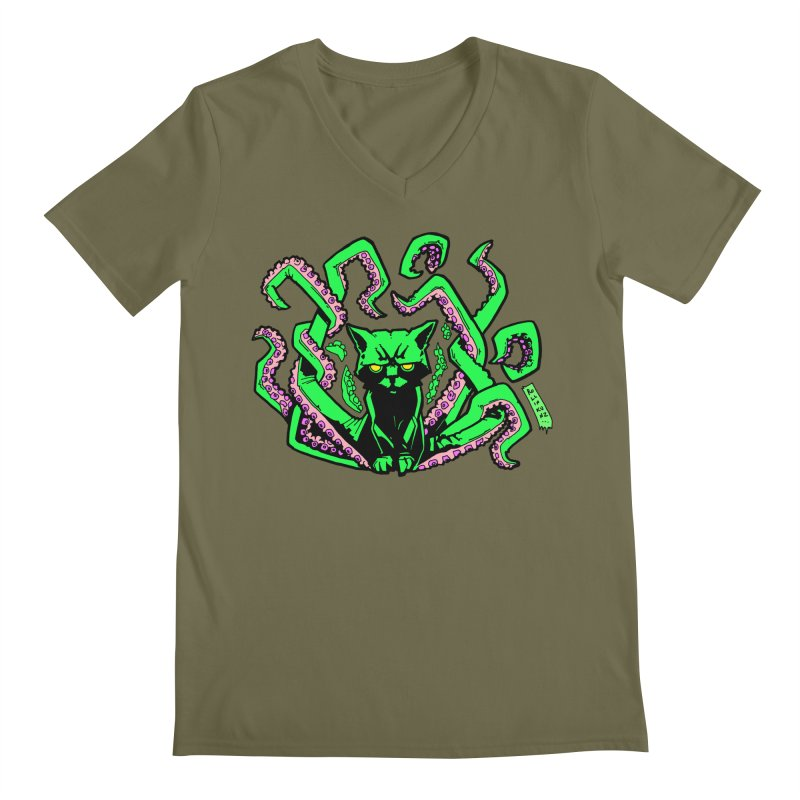 Catthulhu Men's Regular V-Neck by