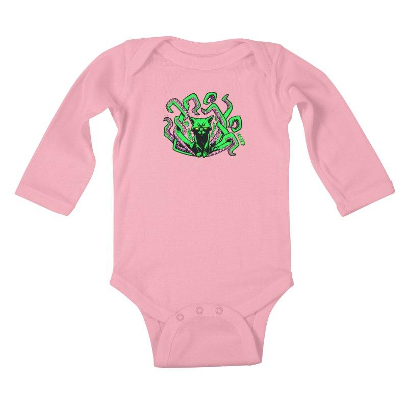 Catthulhu Kids Baby Longsleeve Bodysuit by