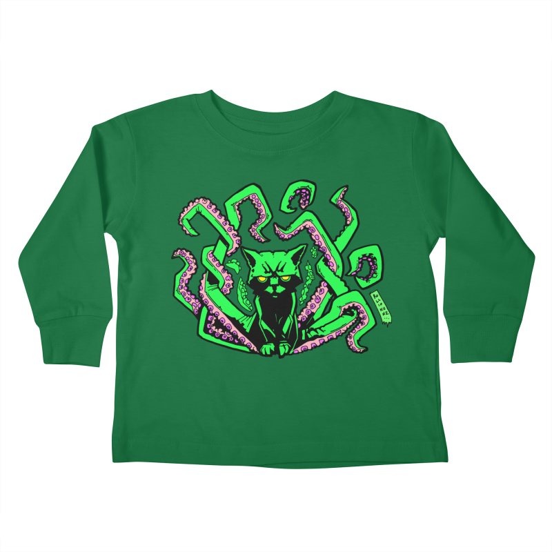 Catthulhu Kids Toddler Longsleeve T-Shirt by