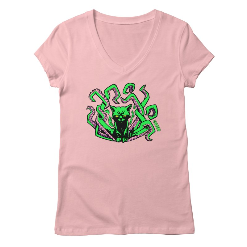 Catthulhu Women's V-Neck by