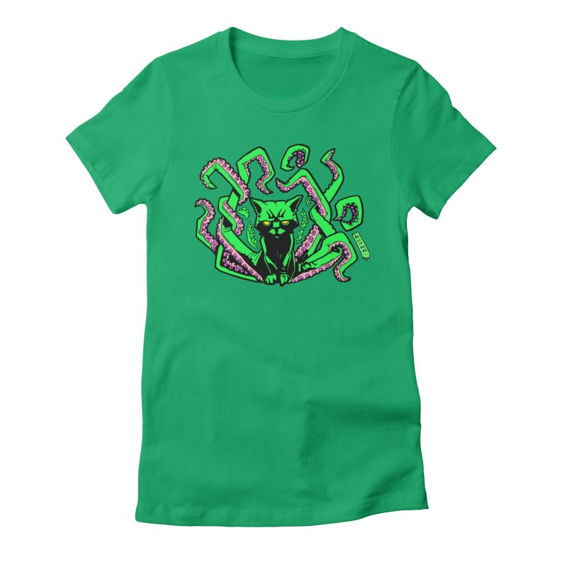 Catthulhu Women's Fitted T-Shirt by