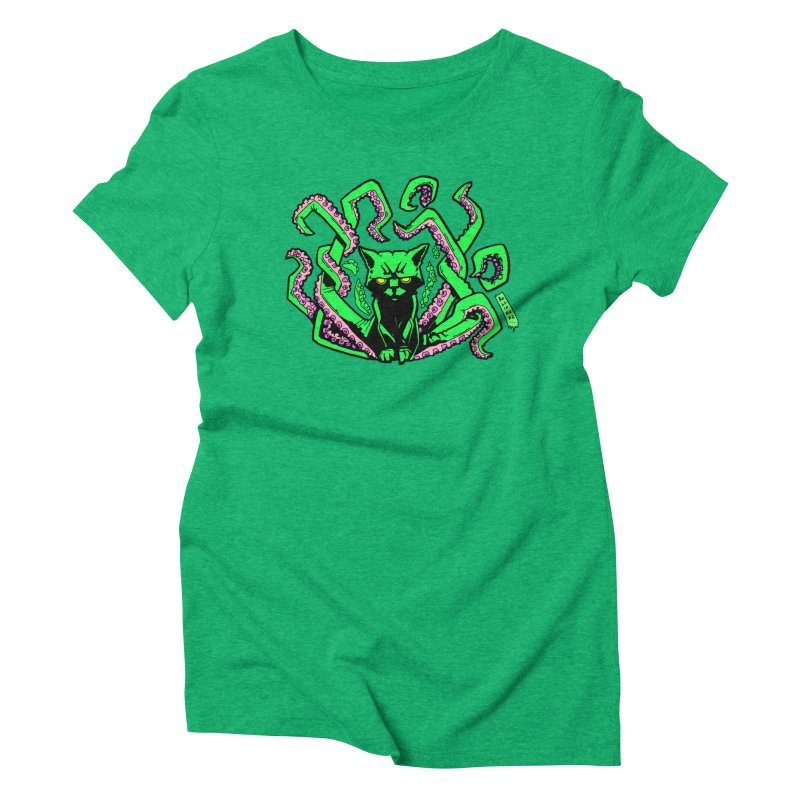 Catthulhu Women's Triblend T-Shirt by