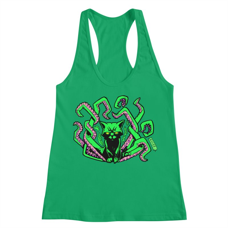Catthulhu Women's Racerback Tank by