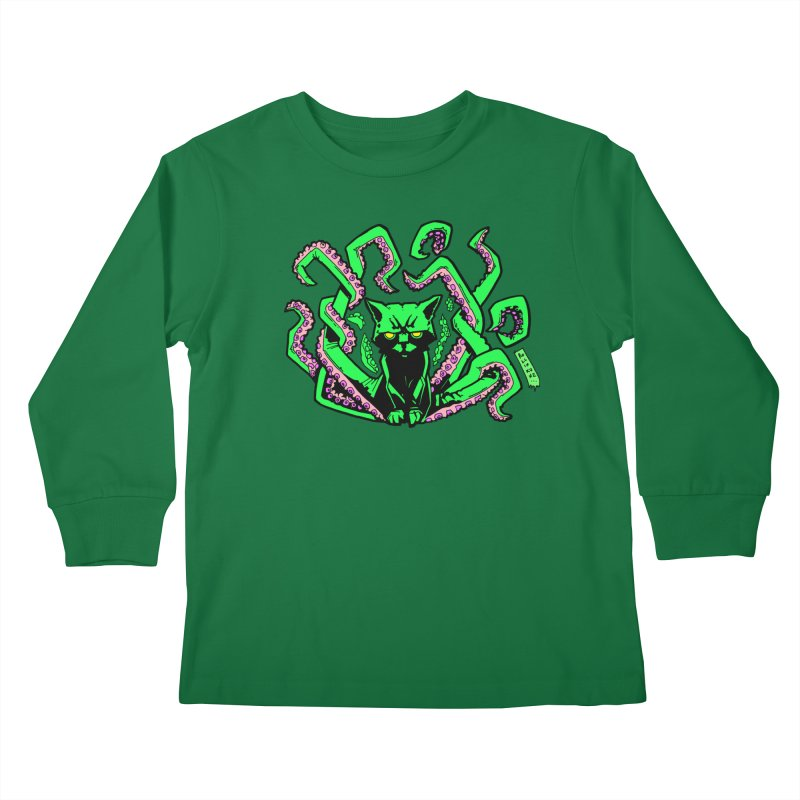 Catthulhu Kids Longsleeve T-Shirt by