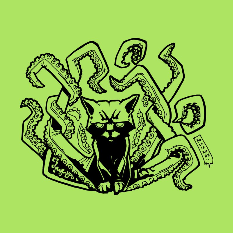 Catthulhu (Uncolored) Kids Toddler Pullover Hoody by