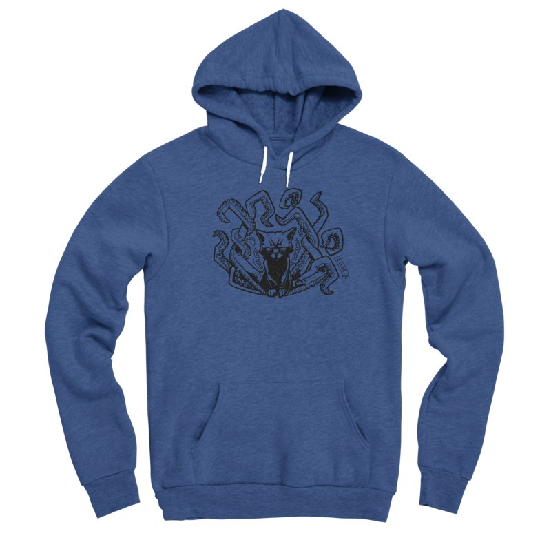 Catthulhu (Uncolored) Men's Sponge Fleece Pullover Hoody by