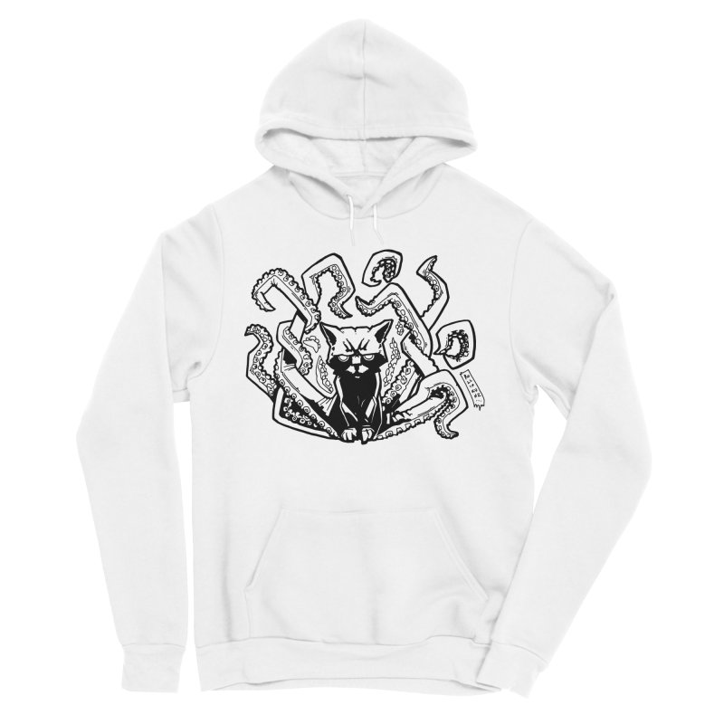 Catthulhu (Uncolored) Women's Sponge Fleece Pullover Hoody by