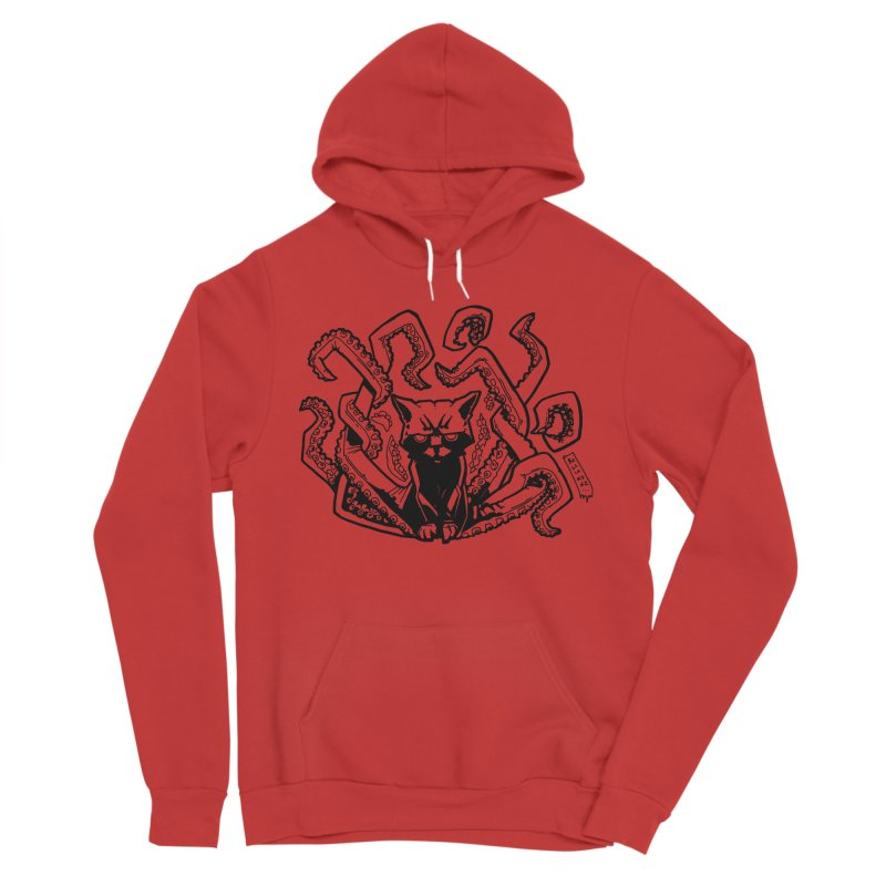 Catthulhu (Uncolored) Men's Pullover Hoody by
