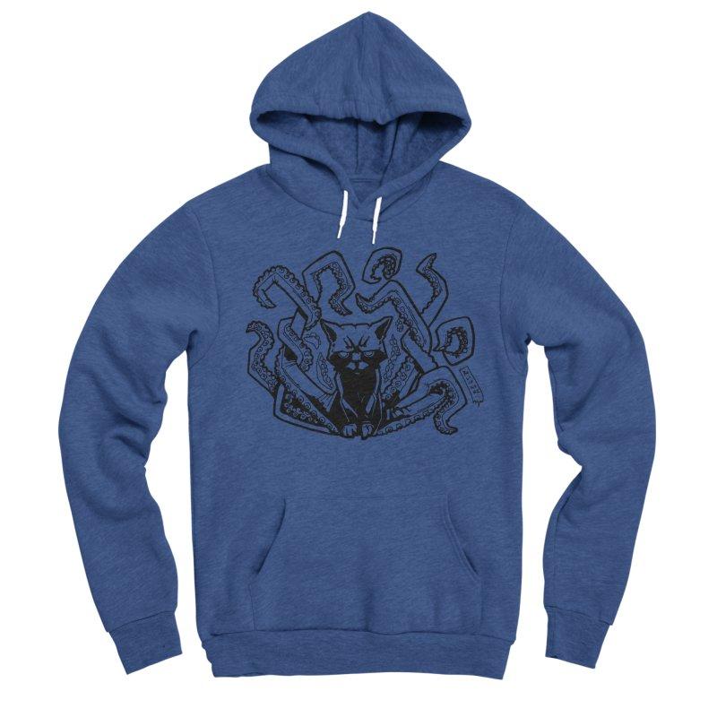 Catthulhu (Uncolored) Men's Sponge Fleece Pullover Hoody by