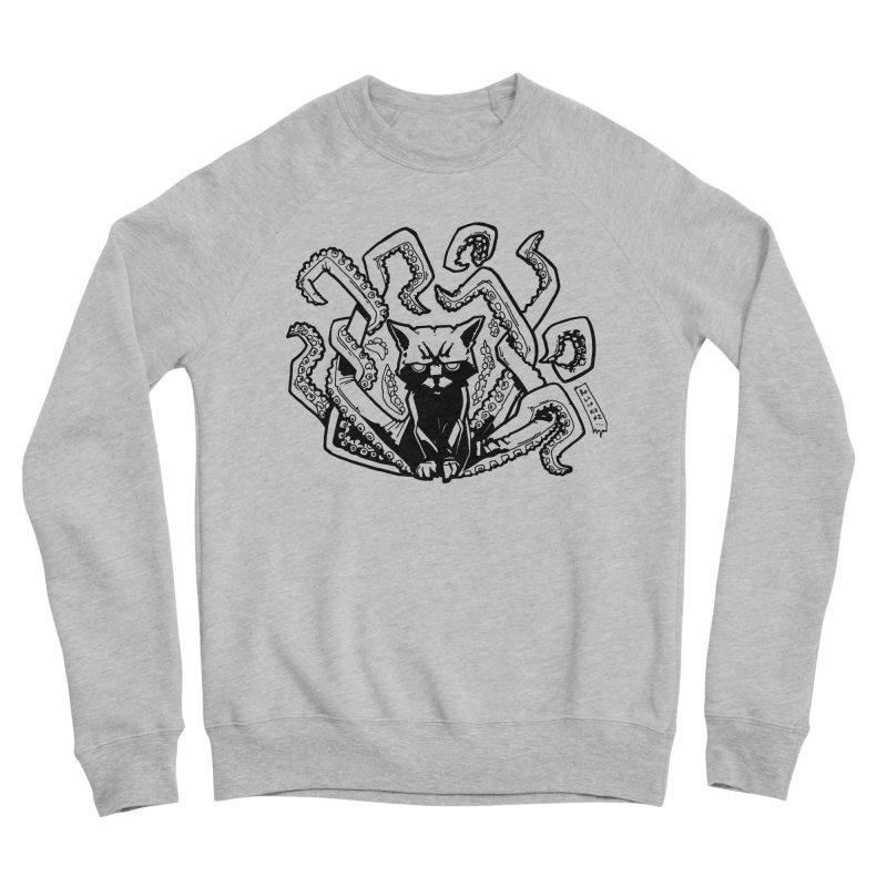 Catthulhu (Uncolored) Men's Sponge Fleece Sweatshirt by