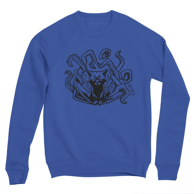 Catthulhu (Uncolored) Men's Sponge Fleece Sweatshirt by