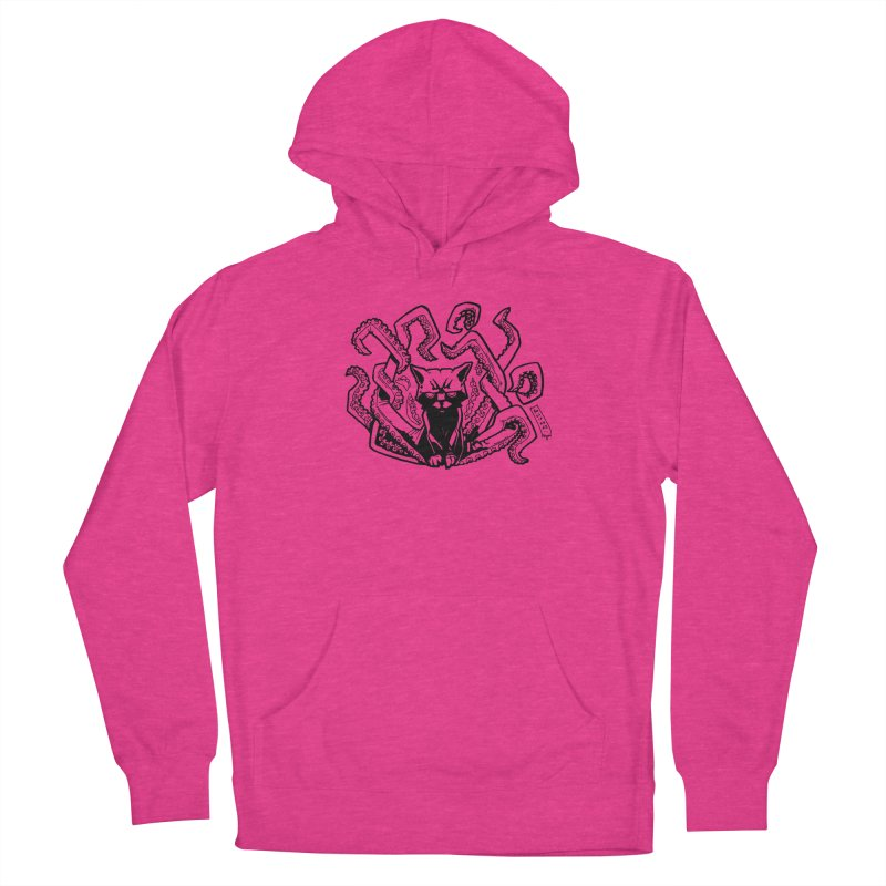 Catthulhu (Uncolored) Men's French Terry Pullover Hoody by