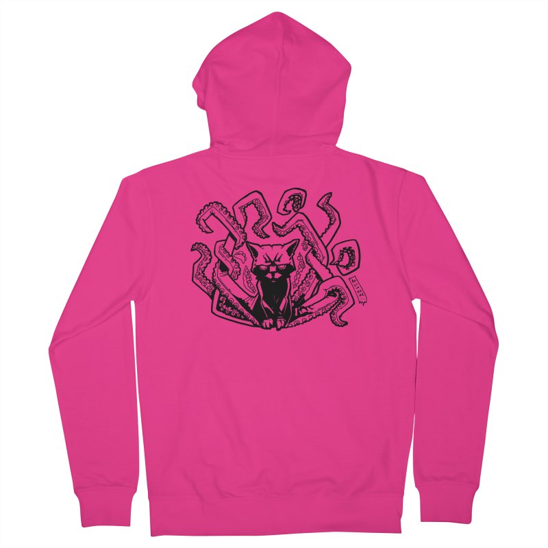 Catthulhu (Uncolored) Men's Zip-Up Hoody by