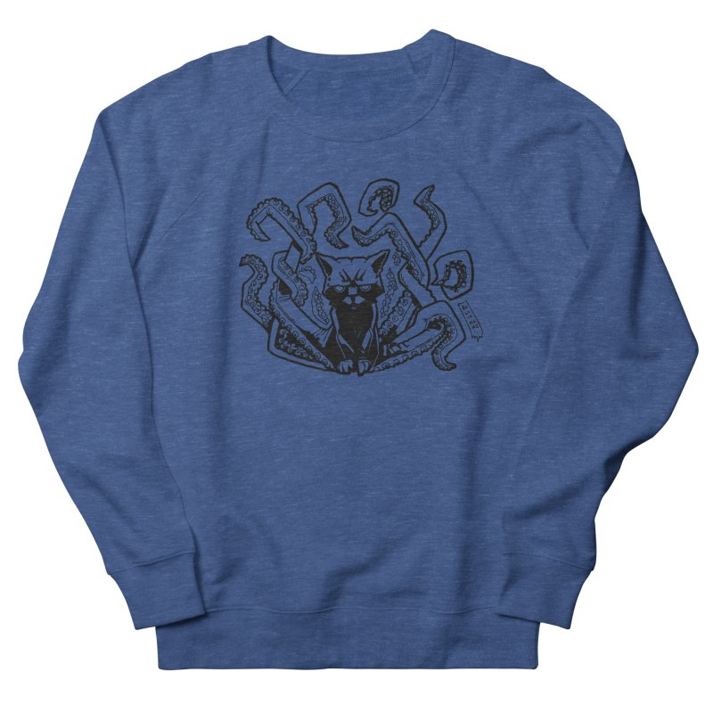 Catthulhu (Uncolored) Women's French Terry Sweatshirt by