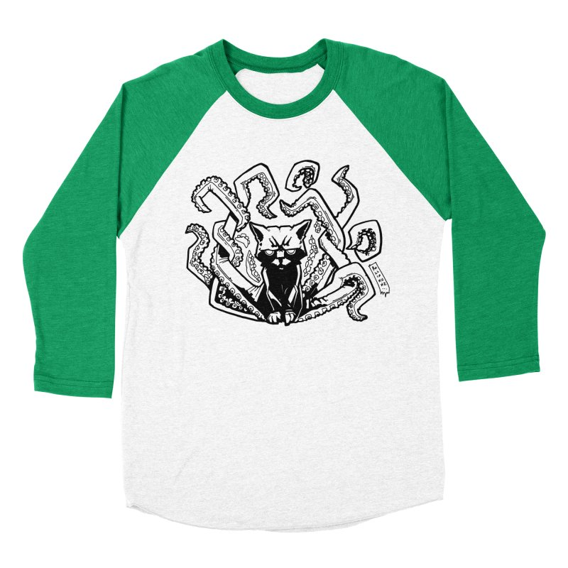 Catthulhu (Uncolored) Men's Baseball Triblend Longsleeve T-Shirt by