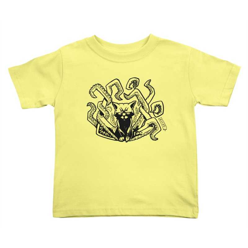 Catthulhu (Uncolored) Kids Toddler T-Shirt by