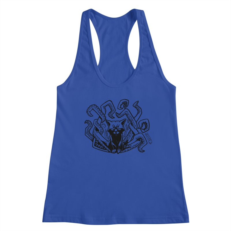 Catthulhu (Uncolored) Women's Racerback Tank by