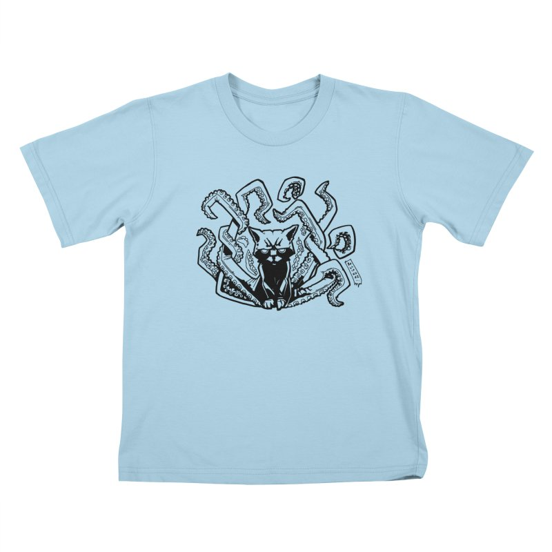 Catthulhu (Uncolored) Kids T-Shirt by