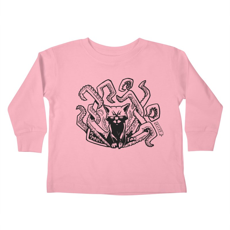 Catthulhu (Uncolored) Kids Toddler Longsleeve T-Shirt by