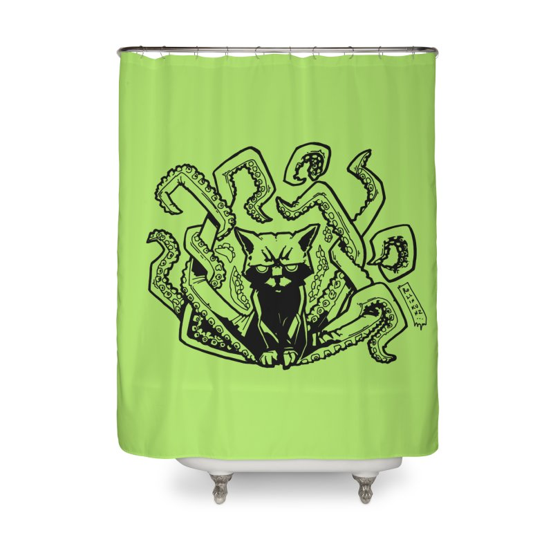 Catthulhu (Uncolored) Home Shower Curtain by