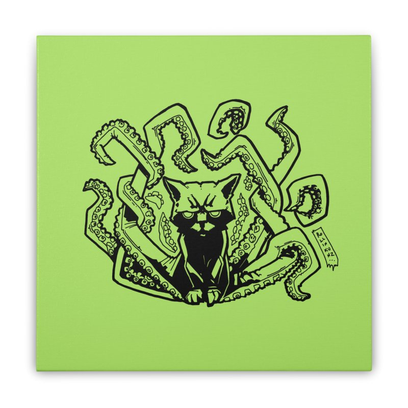 Catthulhu (Uncolored) Home Stretched Canvas by