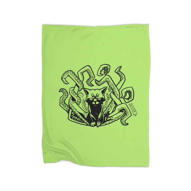 Catthulhu (Uncolored) Home Fleece Blanket Blanket by