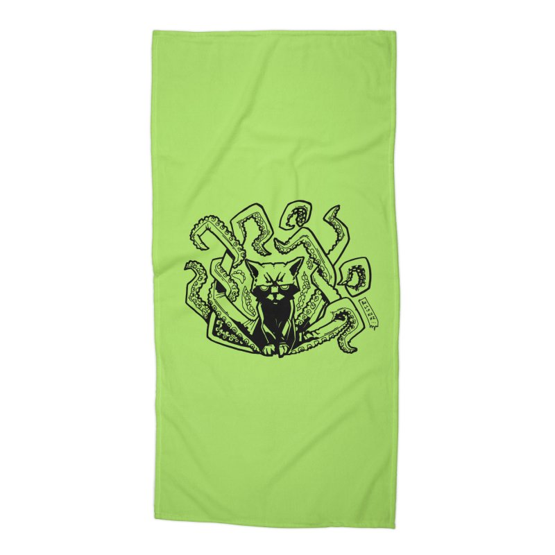 Catthulhu (Uncolored) Accessories Beach Towel by